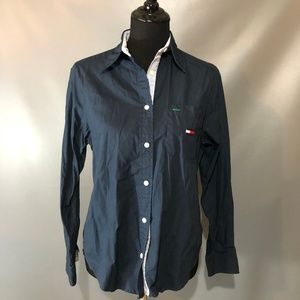 VINTAGE Tommy Girl Navy Button Down Size 6